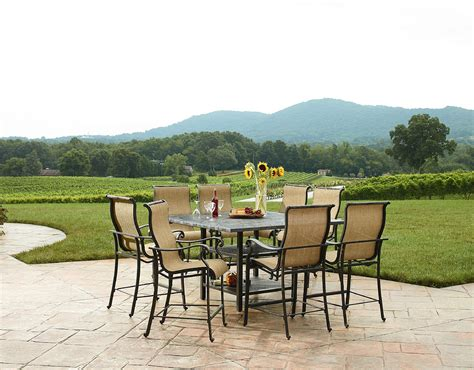 Agio Patio Dining Set Agio International Panorama Outdoor 9 High Dining Patio Set Limited Availability