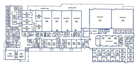 floor plan of a business new river valley business center