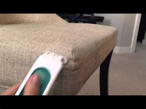 dining chair fabric pill removal youtube