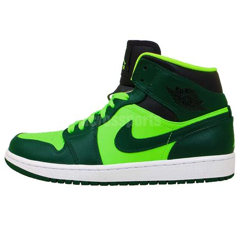 green basketball shoes nike air 1 mid aj1 green mens basketball shoes
