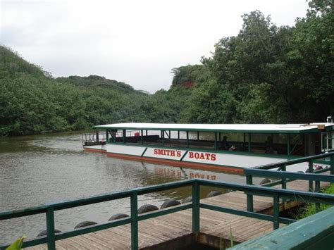kauai river boat tours entertainment on the boat ride to grotto picture of