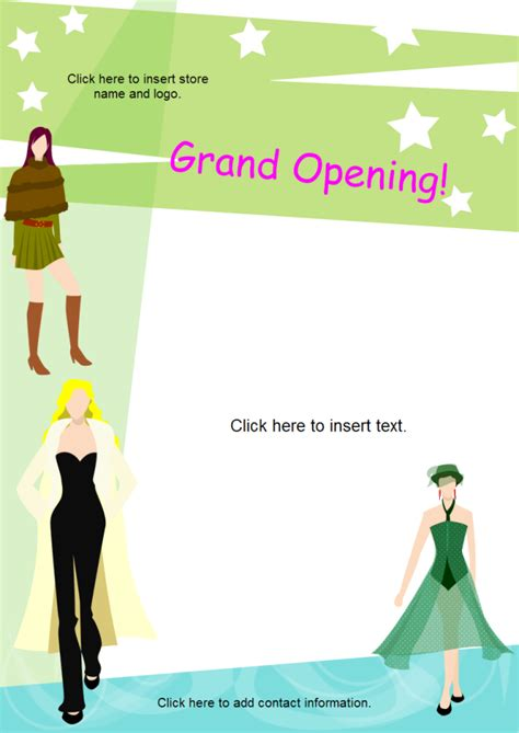 grand opening flyer template free grand opening flyer free grand opening flyer templates