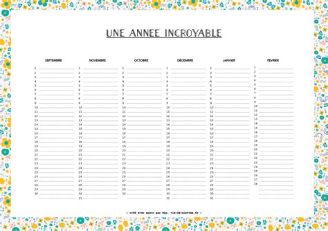 Calendrier Perpetuel Un Planning Perp 233 Tuel Pour S Organiser Saxe