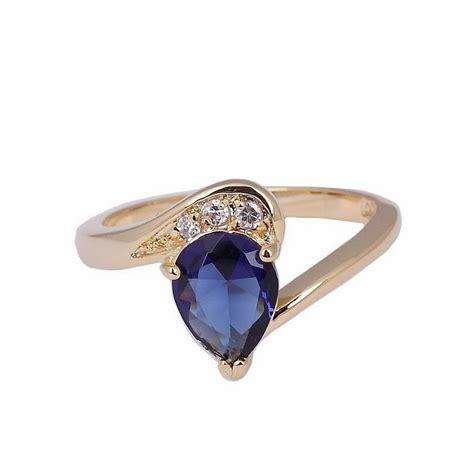 Ring Cincin Wanita cincin wanita dengan model blue sapphire
