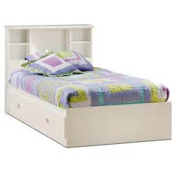 White Twin Storage Bed With Bookcase Headboard Twin Bed With Storage And Bookcase Headboard Native Home