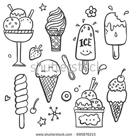 cone of cold doodle god wiki set doodle different stock vector 695876215