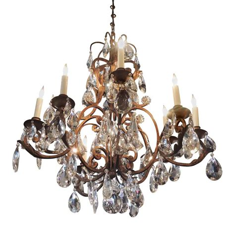 Iron Chandelier With Crystals Iron Chandelier With High Quality Faceted Crystals Olde Things
