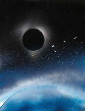 Sprei My Eclipse spray painting the total eclipse in plain view