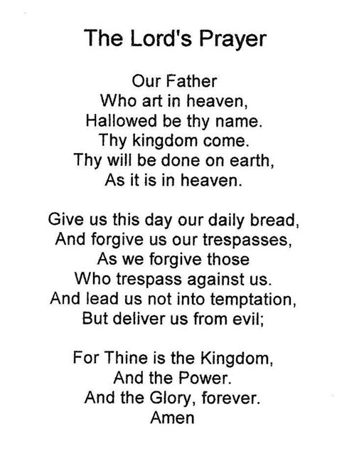 The Lord Prayer the prayer for children www imgkid the image