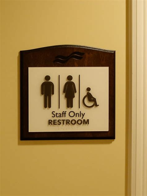 Only Bathroom Sign by Waterford Retirement Residence Aroh Inc