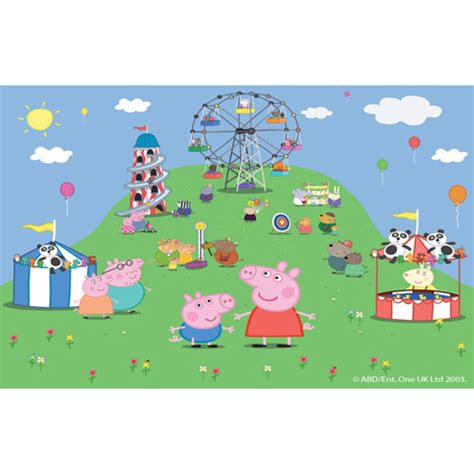 peppa pig wall mural children bedroom wall stickers wallpaper mural cm244x305 walltastic peppa pig