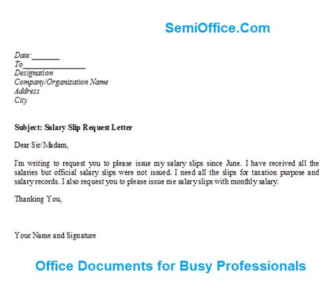 Bank Letter In Telugu salary slip request letter format
