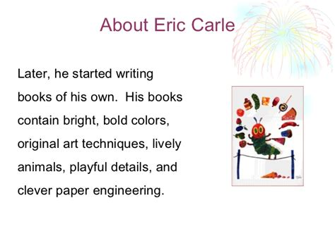 Crle Essay by Eric Carle