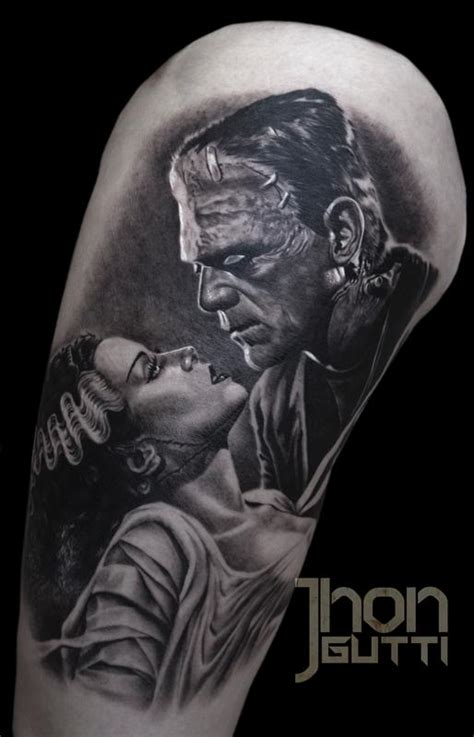 bride of frankenstein tattoo frankenstein and by jhon gutti tattoonow