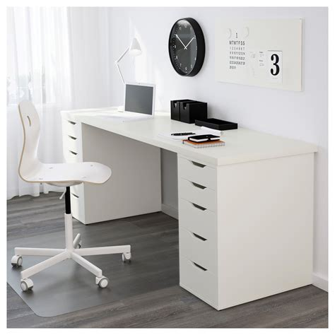 ikea linnmon alex desk white alex linnmon table white 200 x 60 cm ikea