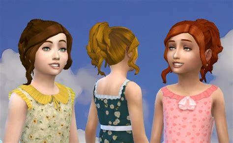 ponytailsims 4 child sims 4 hairs mystufforigin curly ponytail for girls