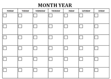 search results for 30 day calendar template word