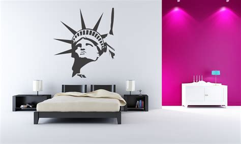 wall stickers new york statue of liberty new york wall stickers wall decal transfers ebay