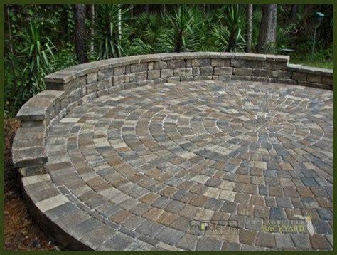 Jacksonville Pavers Circular Patio Install Jpg Backyard Circular Paver Patio