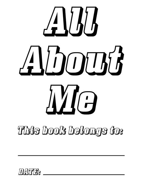 on me books all about me printable book