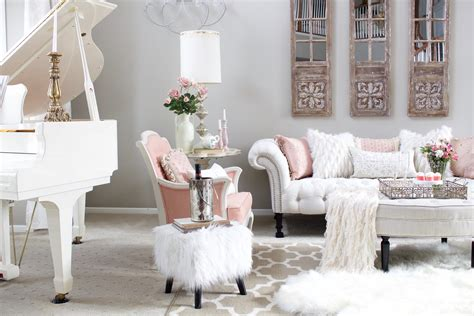 Pink Living Room Ideas - blush pink living room valentines day decor