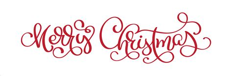 hand lettering merry christmas vector text calligraphic lettering template creative typography
