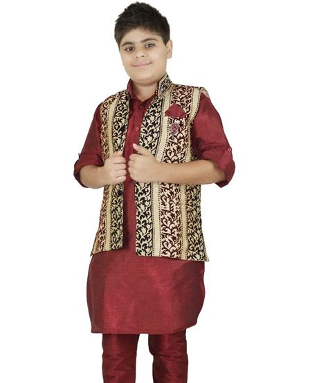 kurta colors riwaaz mehroon fone color kurta pajama set with jacket
