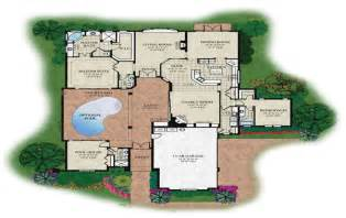 Home Plans With A Courtyard And Swimming Pool In The Center floor plans with courtyard pool courtyard u shaped house plans