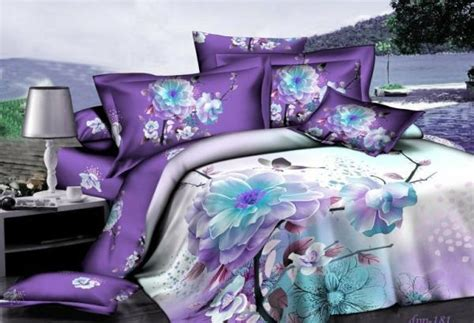 blue purple comforter aliexpress com buy 3d purple white blue floral bedding