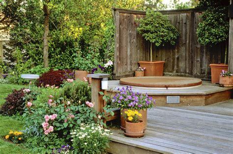 backyard hot tub landscaping backyard jacuzzi landscaping ideas pool design ideas