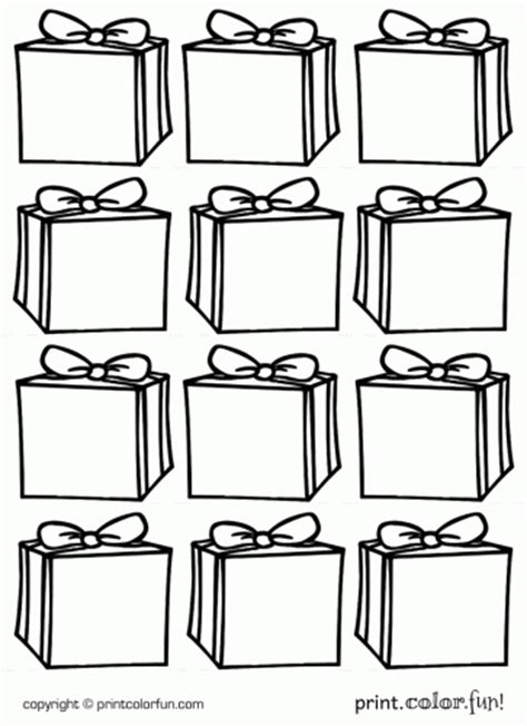 printable gift coloring page free coloring pages of color gift box