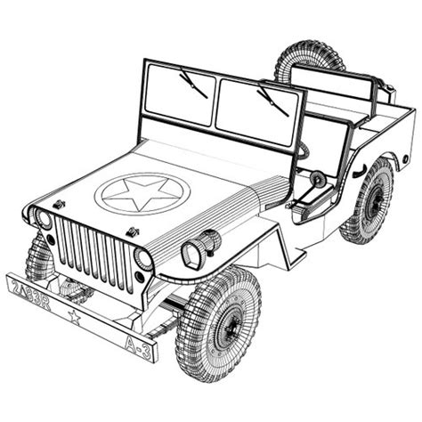 how to draw a army jeep willys jeep 3d model obj 3ds stl cgtrader