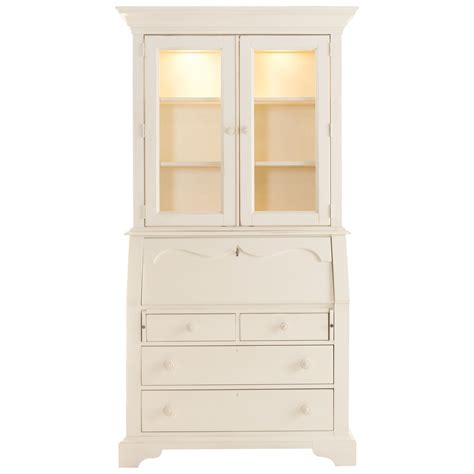 White Desks With Hutch Furniture White Corner Desk With Drawers And Spacious Hutch Glass Doors Features 3