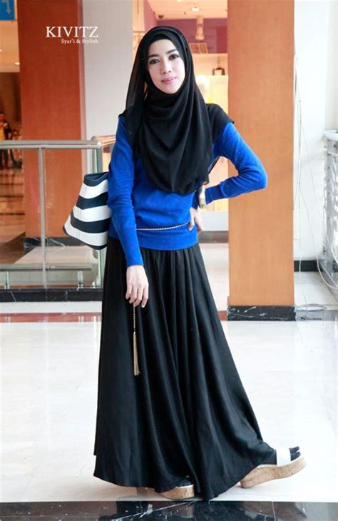 Maxi Fitri ramadhan fitri aulia en black maxi skirts blue and and daily