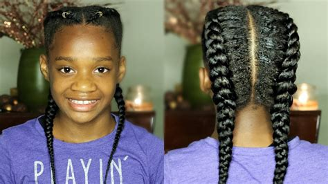 show me pictures of extensions french braids black people here twin french braids using clip in extensions misskenk