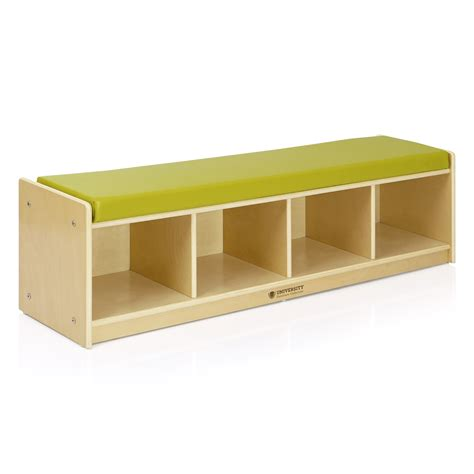 4 cubby storage bench 4 section bench cubby birch plywood university