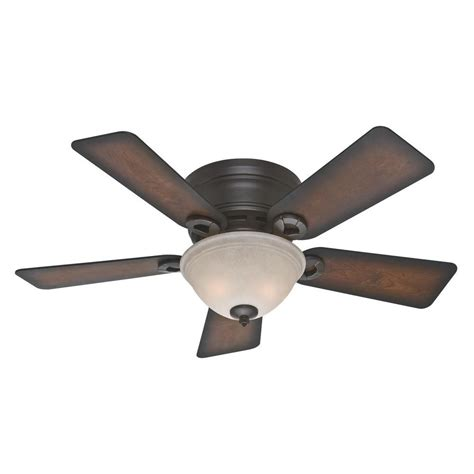 hunter 52 onyx bengal bronze ceiling fan hunter conroy 42 in indoor onyx bengal bronze low profile