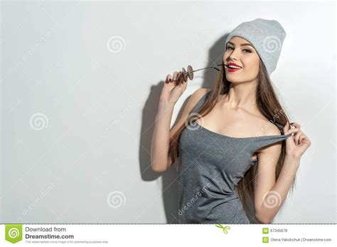 youngest looking women young girl is trying to seduce stock photo image 67346878