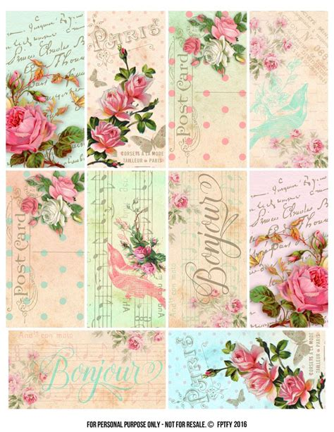 parisian romantic scrapbook printables free printables
