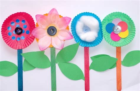 Flower With Chart Paper - paper flowers tie into kaper chart each make