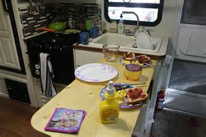 Rv Kitchen Table How To Add 36 Inches To Your Small Rv Kitchen Countertop