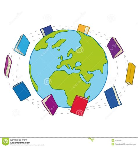 Around The World For Free books around the world stock vector illustration of