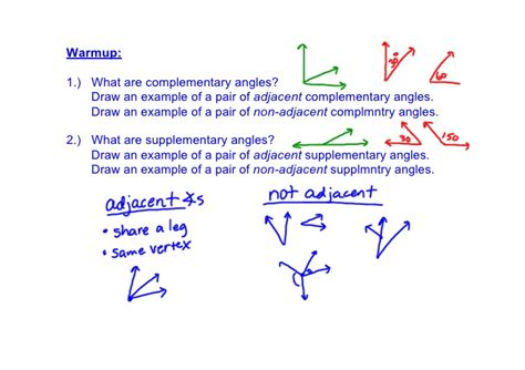 supplement and complement angles congruent complements and supplements