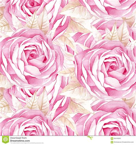 watercolor roses pattern watercolor seamless roses pattern stock vector image