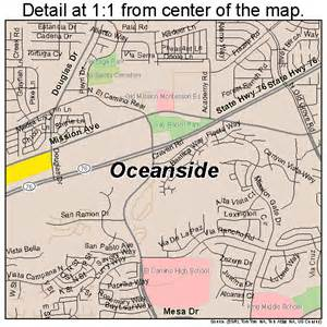 oceanside california map 0653322