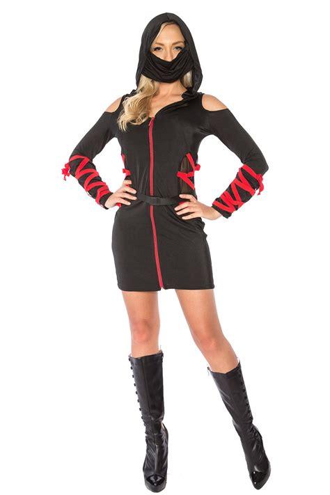 ladies ninja assassin costume womens japanese deadly