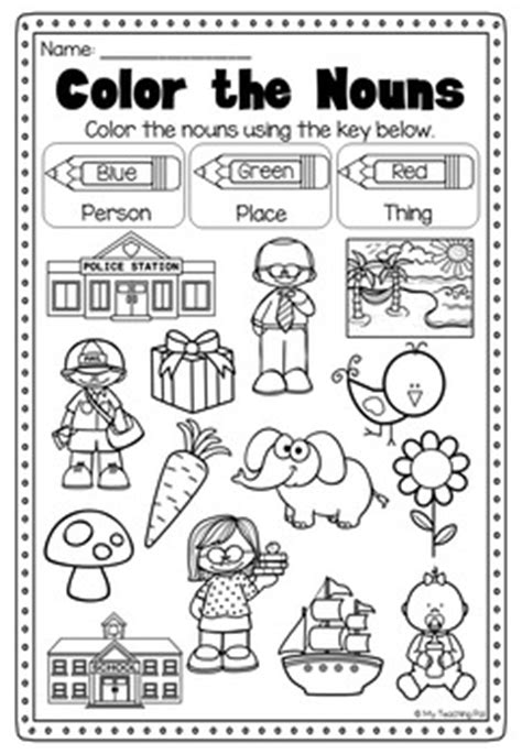 Noun Worksheets For Kindergarten by Nouns Printable Worksheet Pack Kindergarten Second