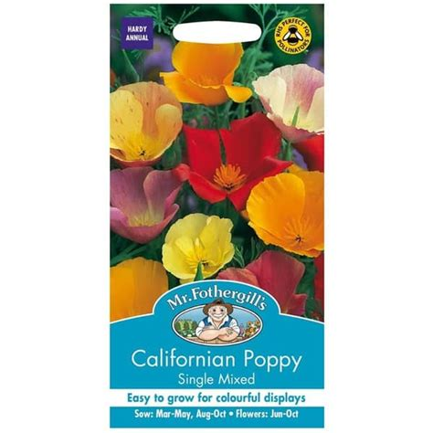 Biji Benih Bibit Bunga California Mix Poppy jual benih californian poppy single mixed 500 biji mr fothergills bibit