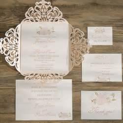 blush pink flower laser cut wedding invitation iwsm049 wedding invitations