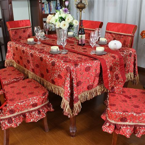 taplak meja tamu bamboo woven damask table cloth tablecloth dining table